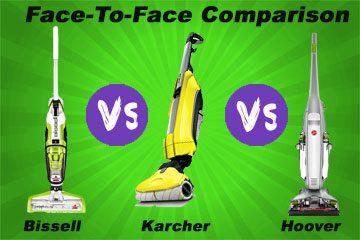 Bissell Crosswave vs Hoover FloorMate vs Karcher FC5