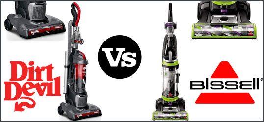 Dirt Devil vs. Bissell Upright Vacuum