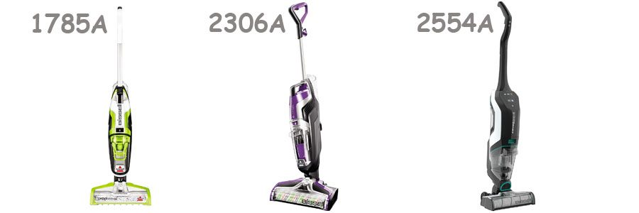 Bissell CrossWave Multi-Surface 1785A vs. Pet Pro 2306A vs Cordless Max 2554A