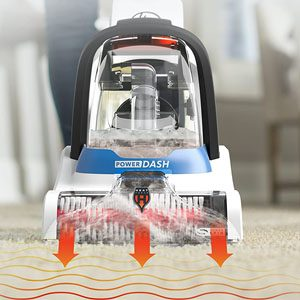 Hoover PowerDash cleaning test