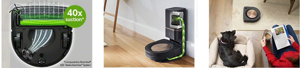 Roomba s9 and S9+ cleaning